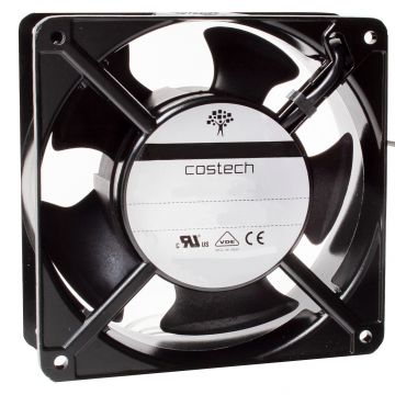 A12B23HTBMT0 High Temperature AC Axial Compact Fan 120x120x38mm 230V Ball Bearing with Terminal Connection
