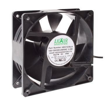 Explosion Proof (ATEX) EC Compact Axial Fan, IP68 120x120x38mm 5.8Wa HEC1238HA