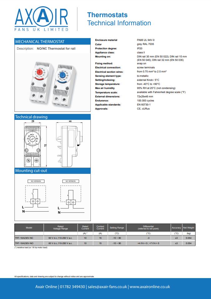 TRT01 Thermostat